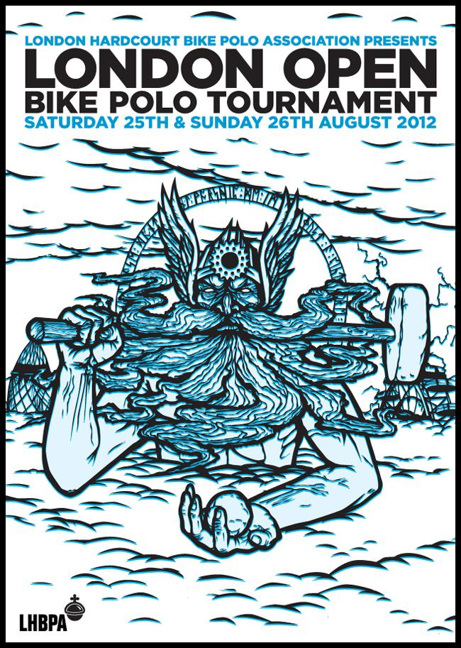 London open bike polo poster 2012