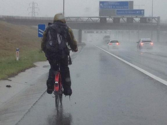 M1 cyclist (source BCH Road Policing on Twitter)
