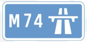 M74 sign
