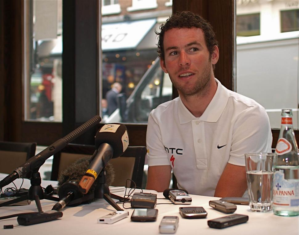 Mark Cavendish pre TDF press conference 2011.jpg