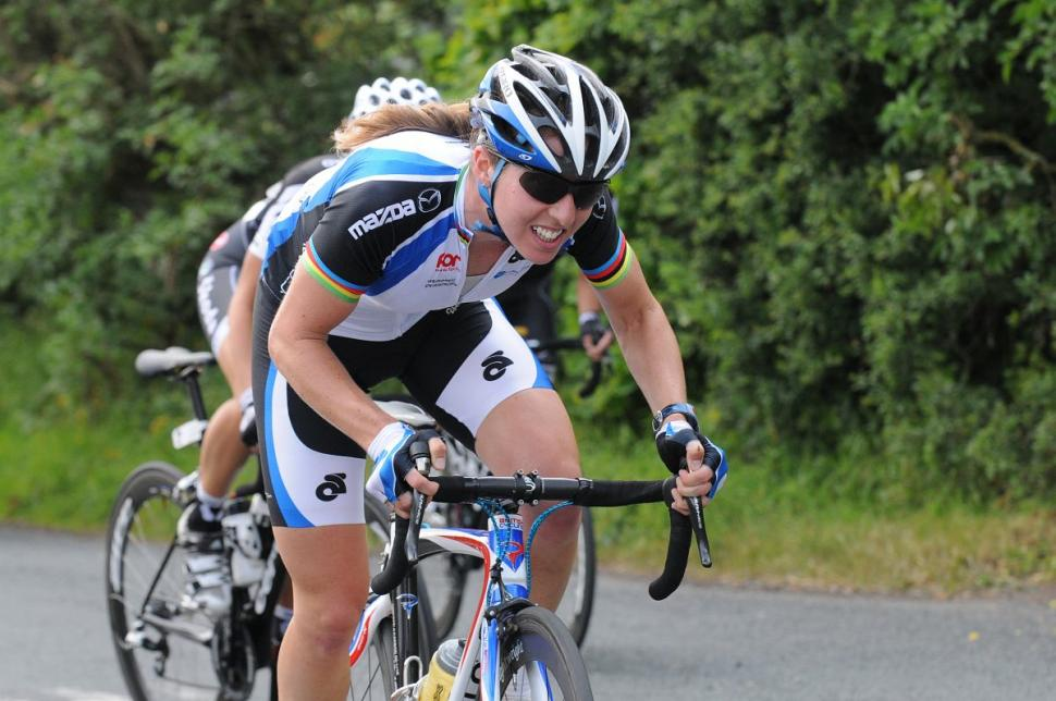 Nicole Cooke at 2010 GB road nats (copyright britishcycling.org.uk)