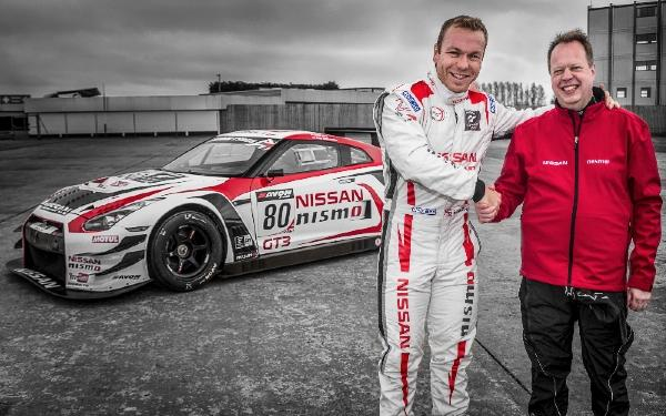 Nissan Executive VP Andy Palmer and Sir Chris Hoy