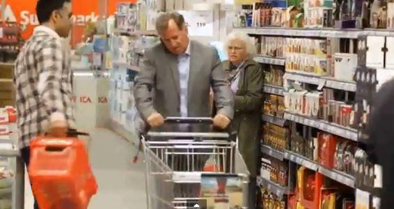Norway shopping trolley road safety YouTube still