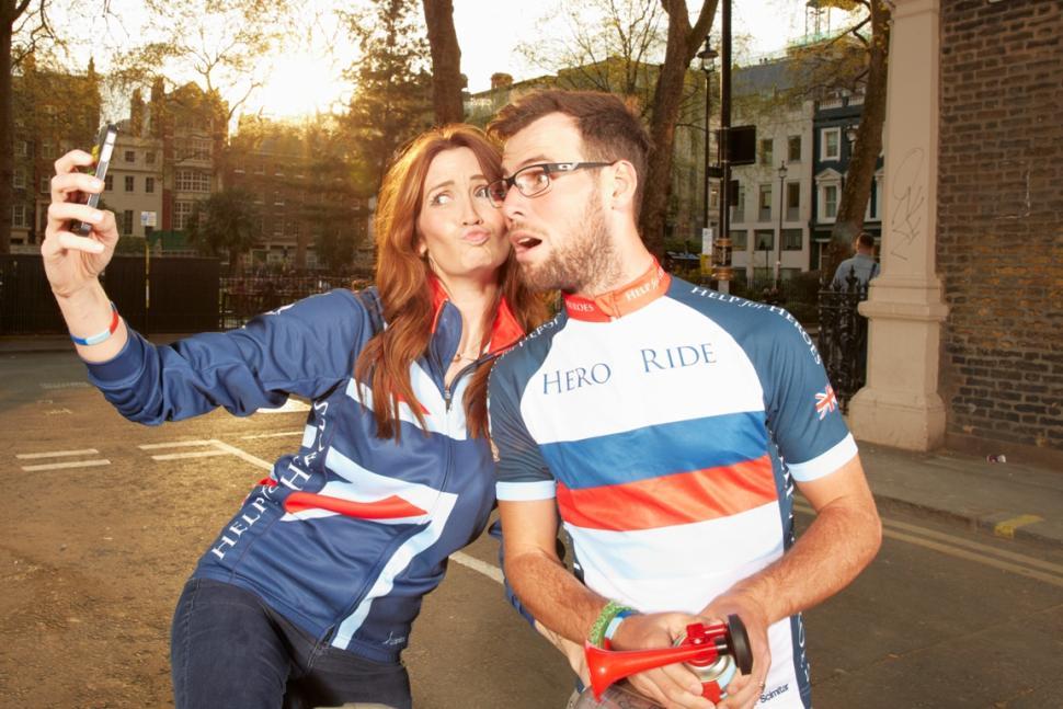 Peta and Mark Cavendish selfie