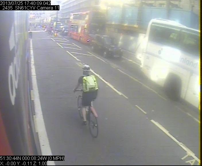 Regent St CCTV cyclist 1