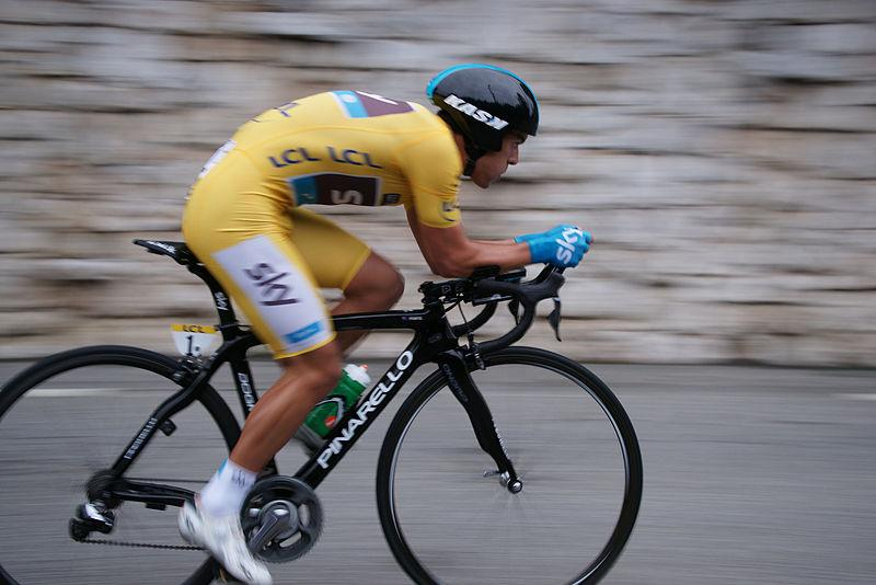 Richie Porte on his way to winning 2013 Paris-Nice (CC licensed by Dacoucou)