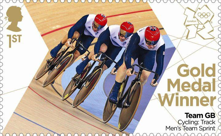 Royal Mail Team GB Men's Team Pursuit stamp