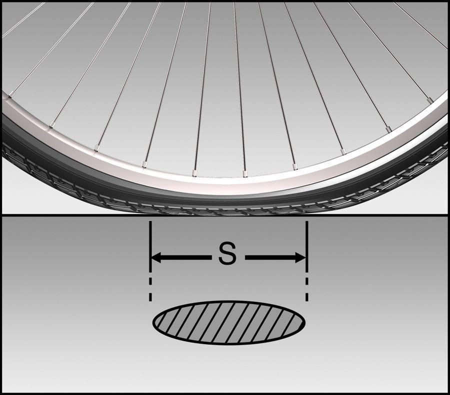 Schwalbe tyre contact area  - 1