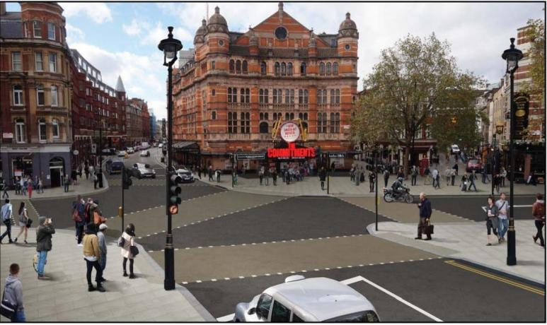 The proposed layout of Cambridge Circus