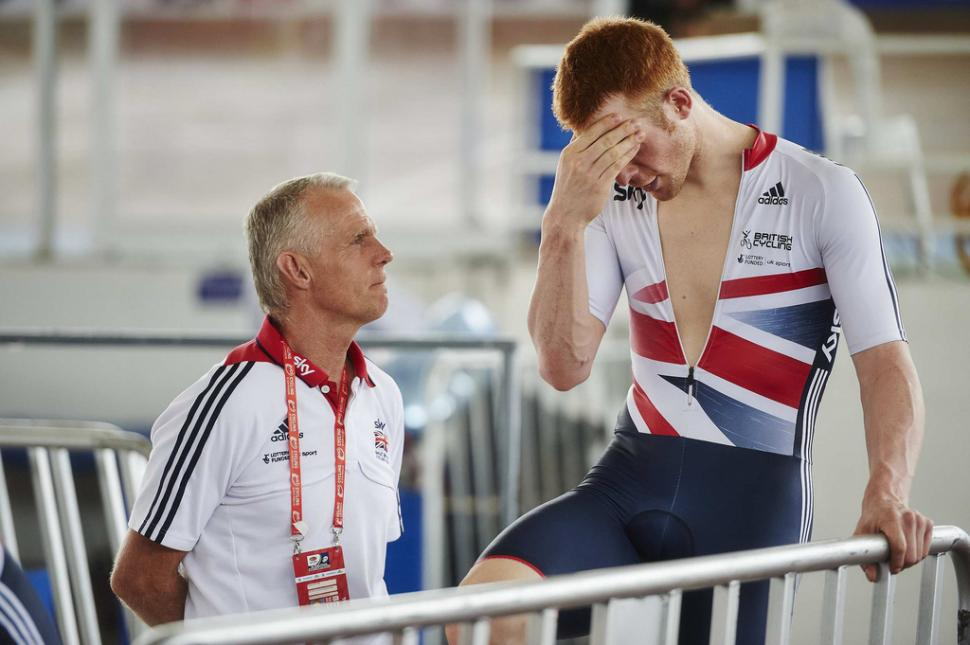 Shane Sutton and Ed Clancy (all rights reserved  britishcycling.org.uk)