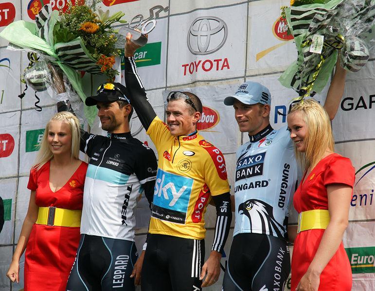 Simon Gerrans on the Tour of Denmark podium picture Mogens Engelund Wikimedia Commons.jpg