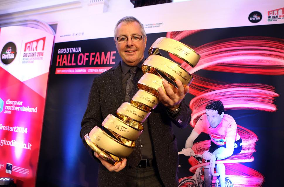 Stephen Roche joins the Giro d'Italia Hall of Fame (picture RCS Sport)