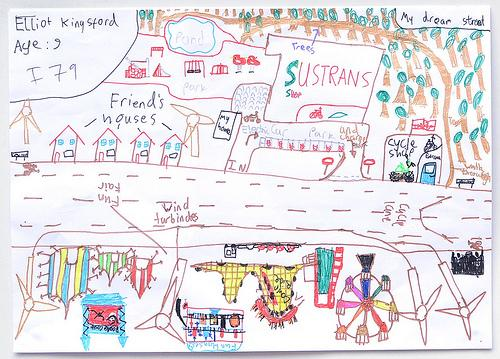 Sustrans Dream Streets Elliott winning entry