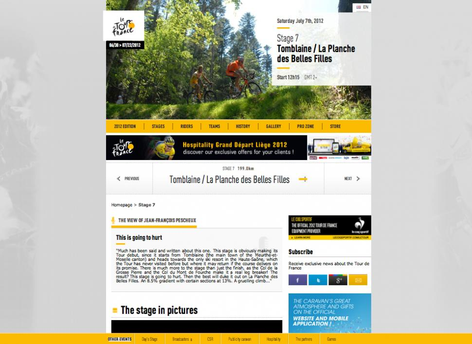 TDF website 2012 redesign