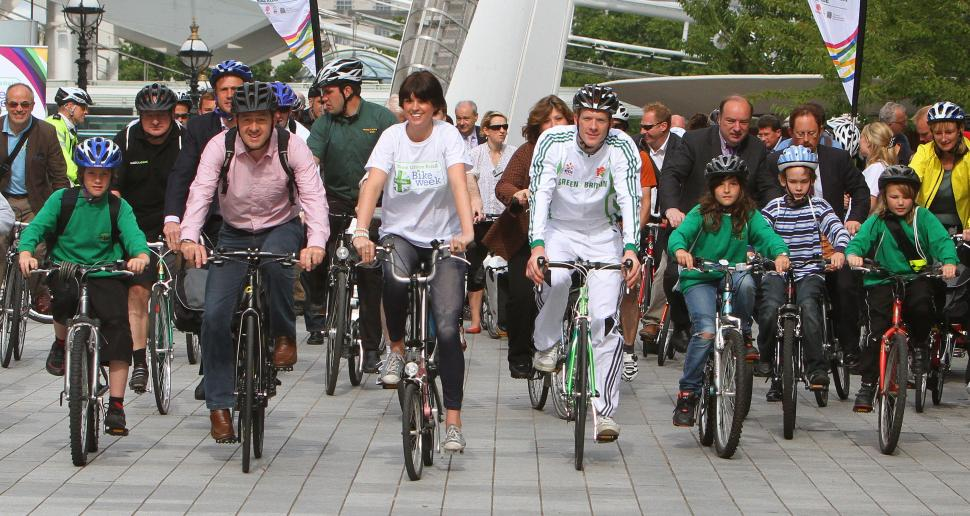 Team Green Britain Bike Week Launch 2011.jpg