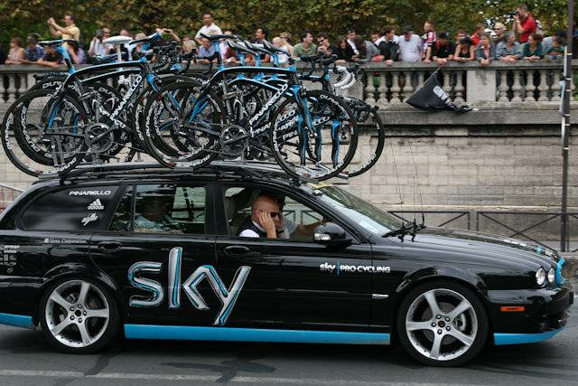 Team Sky car (copyright Andy Cunningham via Flickr)
