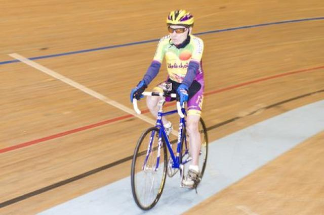 The world's oldest cycling record-holder, Robert Marchand is 102 (picture credit UCI)