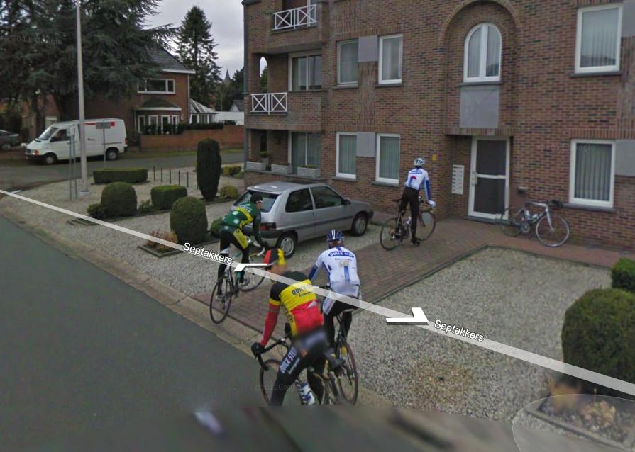 Tom Boonen and pals on Google StreetView