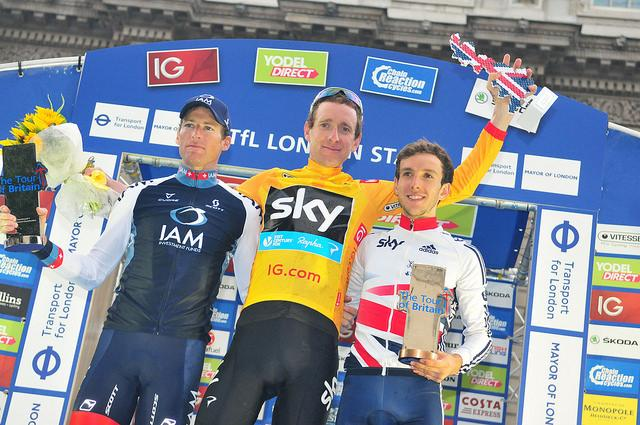 Tour of Britain 2013 podium (picture credit SweetSpot)