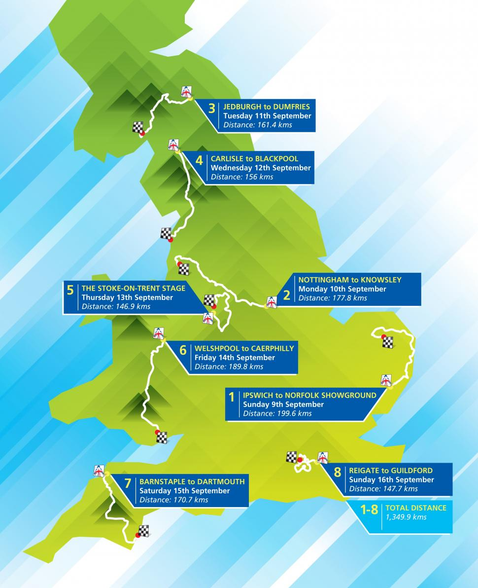 Tour of Britain route 2012