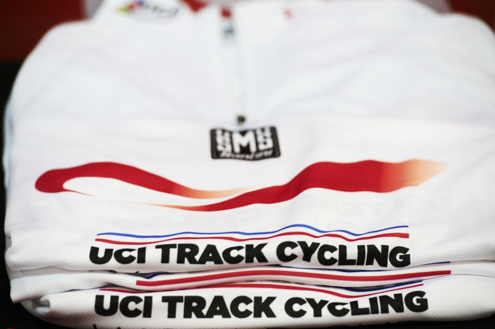UCI Track World Cup jersey (copyright Britishcycling.org.uk)