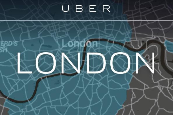 Uber London web page