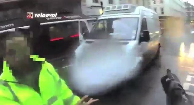 White Van Man Has a Bad Day (Veloevol YouTube still)