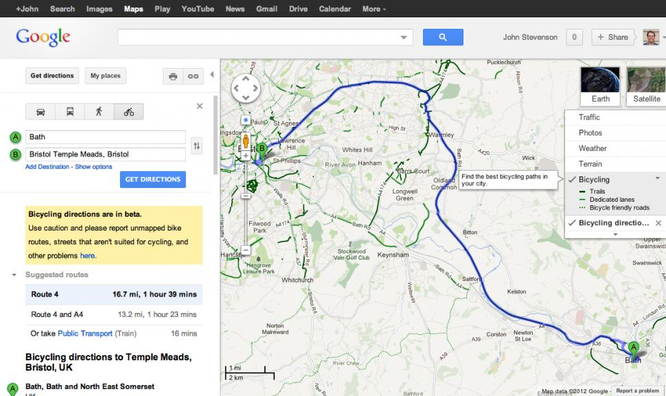 Google maps adds uk bike navigation with sustrans routes road google mapsg gumiabroncs