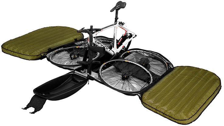 Велосипедная сумка с надувными стенками