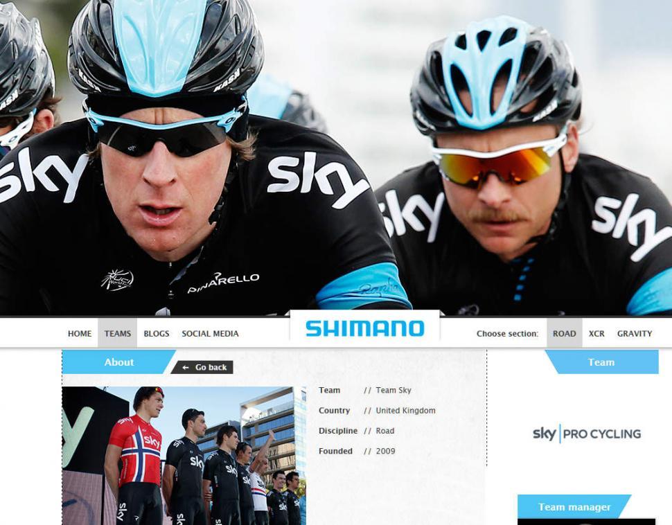 shimano race website