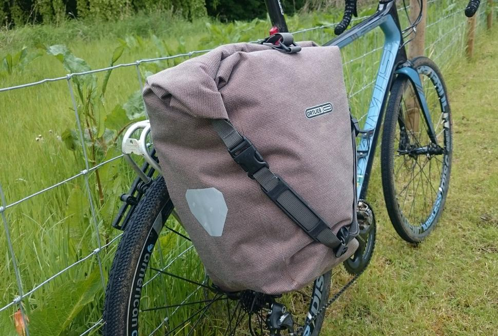 Ortlieb Single Back-Roller Urban Pannier - on bike