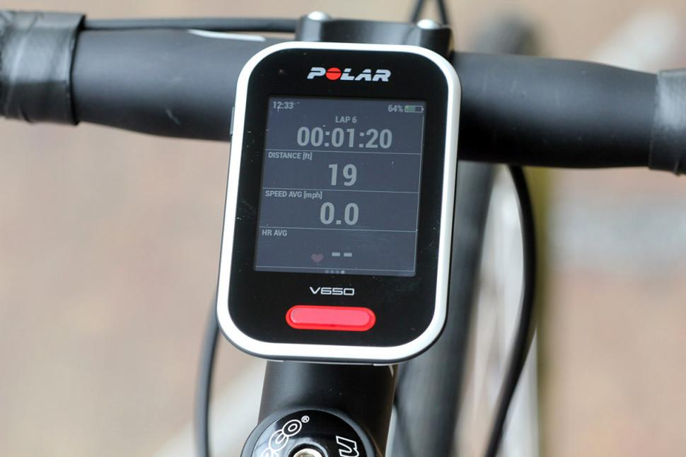 Review Polar V650 Gps Cycling Computer Road Cc