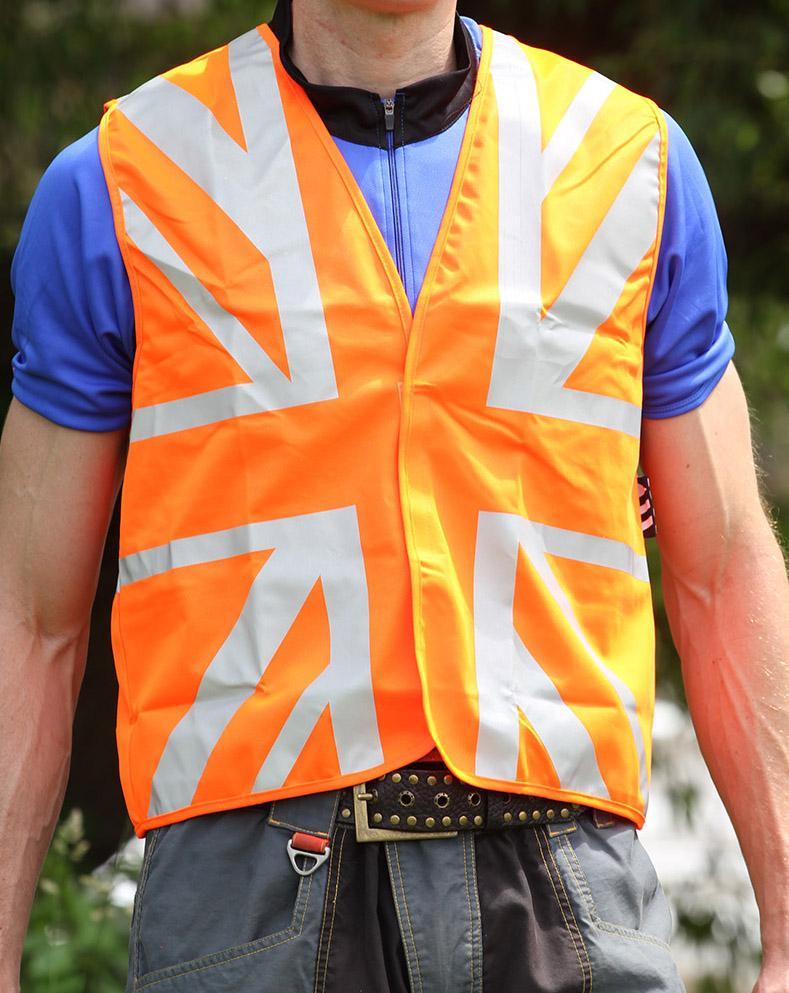 Vizavee Reflective Union Jack Vest