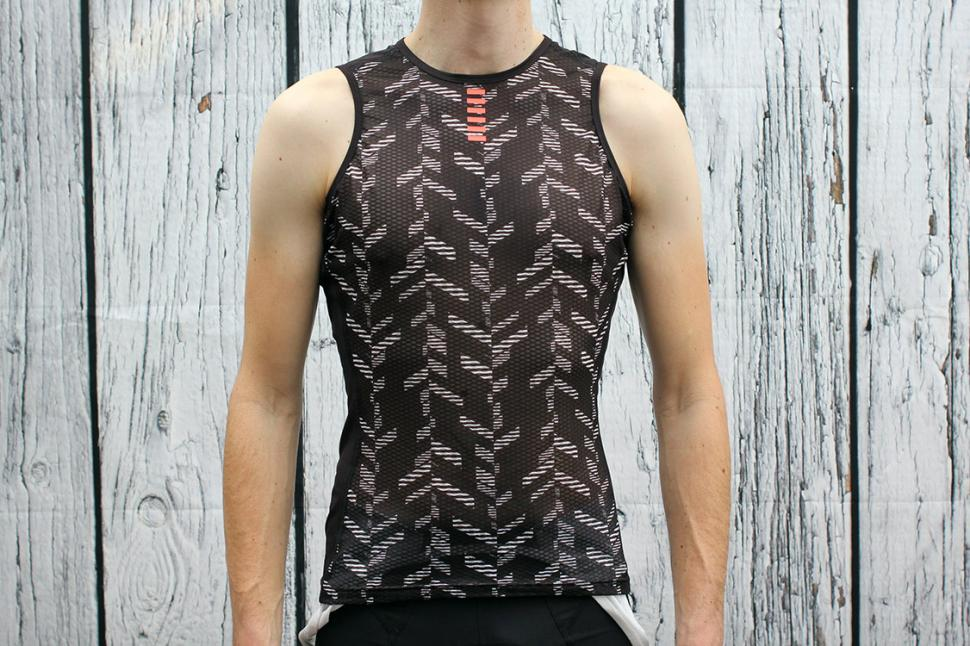 Review: Rapha Pro Team Base Layer Sleeveless - Data Print ...