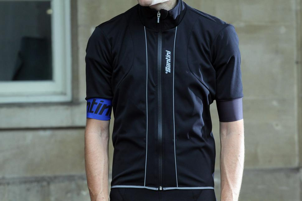 Review: Santini Reef rain jacket with short sleeves | road.cc