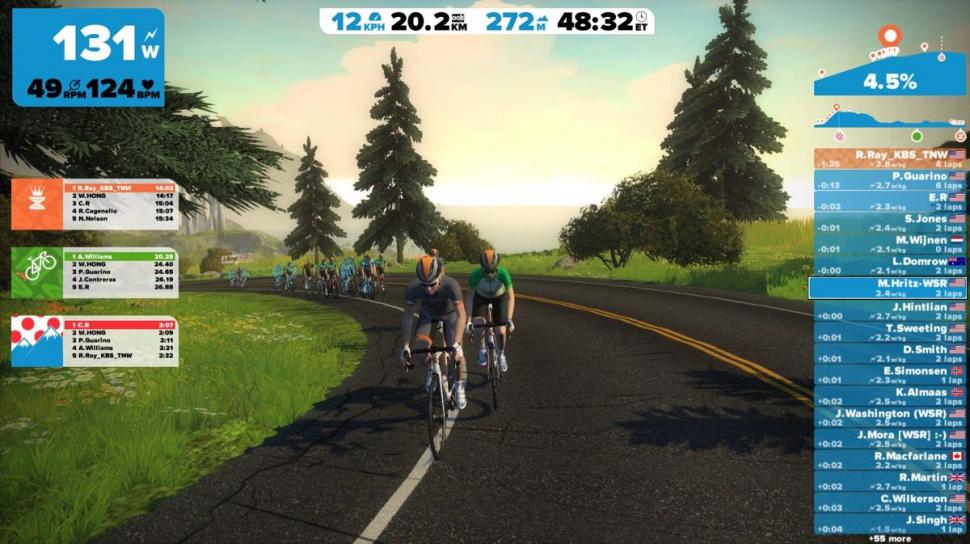 Zwift screen  - 2