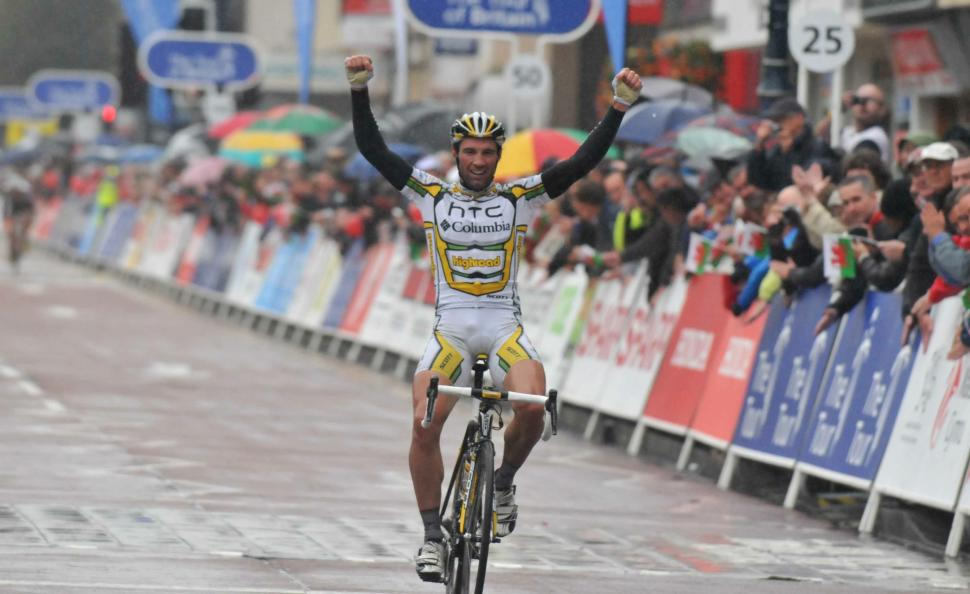 Michael Albasini wins Stage 3 of the 2010 Tour of Britain (picture credit Tour of Britain)