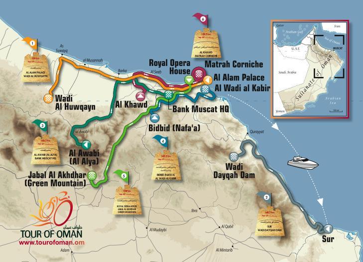 Tour of Oman 2012 parcours