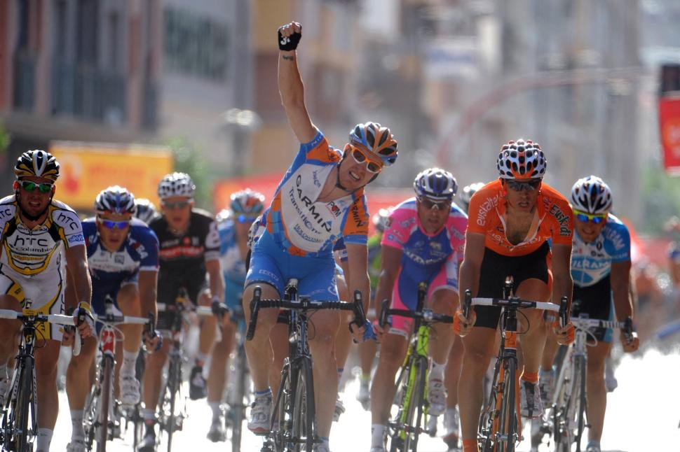 Tyler Farrar wins Stage 5 of the 2010 Vuelta (copyright Unipublic:Graham Watson)
