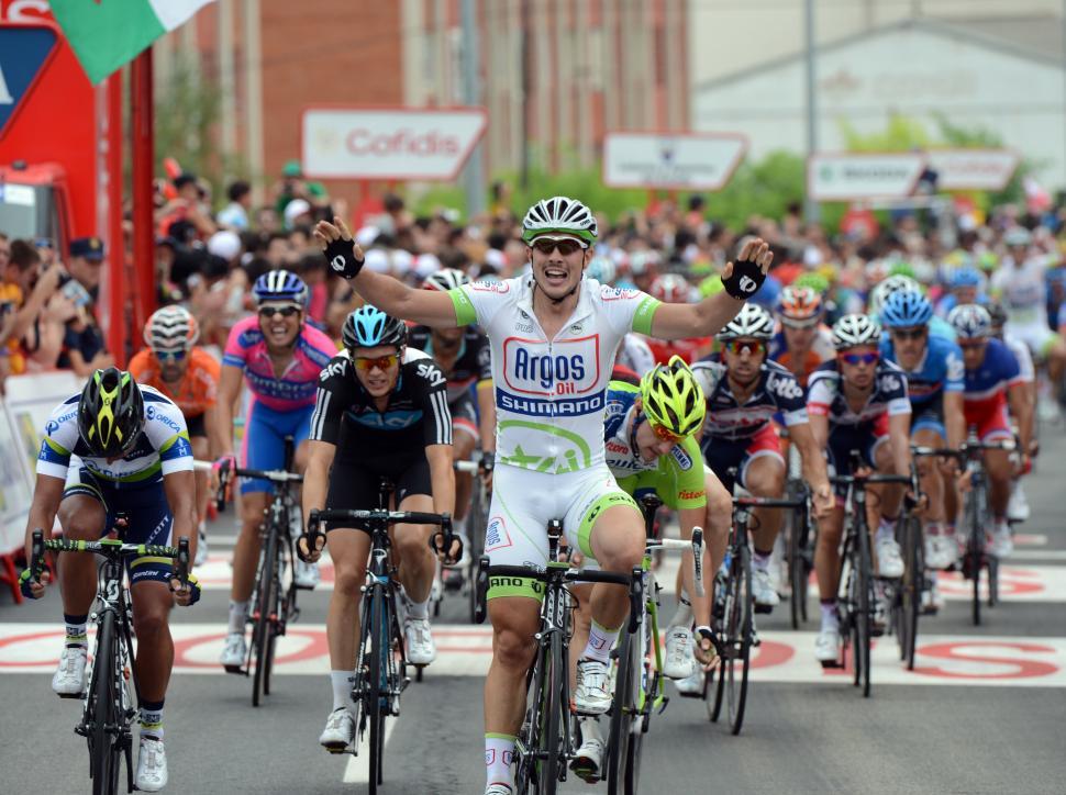 Vuelta 2012 S2 John Degenkolb wins sprint (copyright Unipublic:Graham Watson)