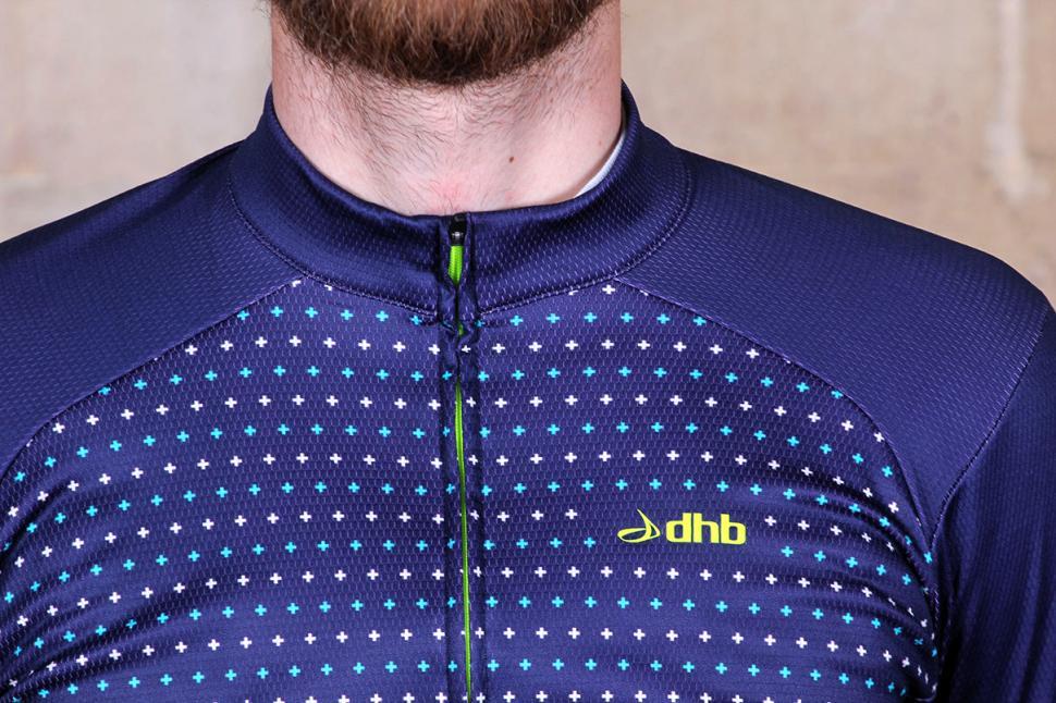 dhb Blok Micro Roubaix Long Sleeve Jersey Zip