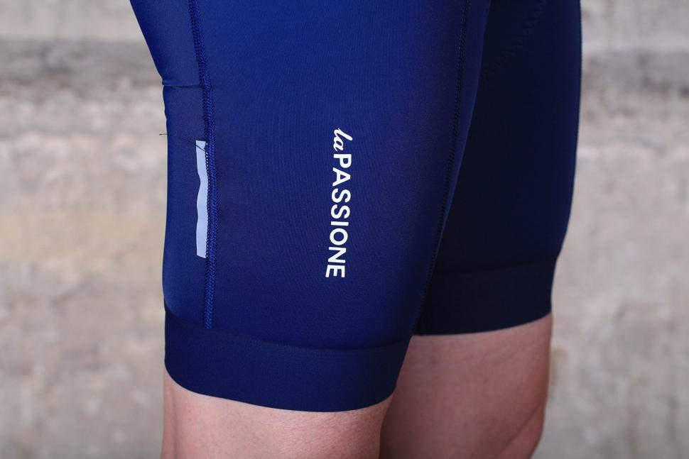 La Passione Summer Bib Shorts Blue Woman - logo.jpg
