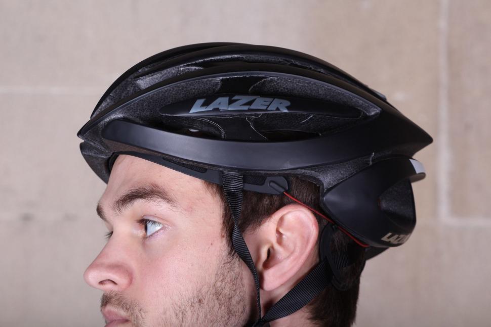 Lazer Genesis matt black medium helmet - side.jpg