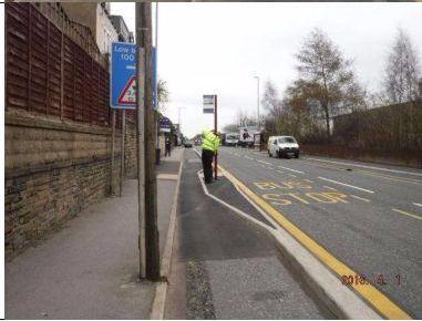 Leeds Bradford CC bus stop Credit Ken Spence