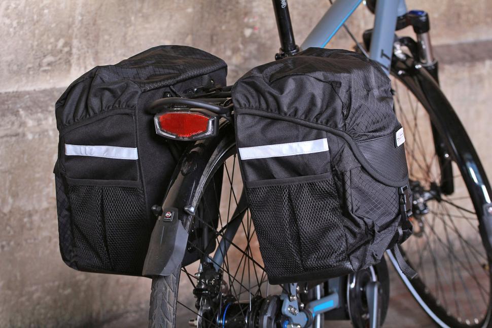 Lotus SH-309L CVR Commuter Double Rear Pannier Bags - from rear.jpg
