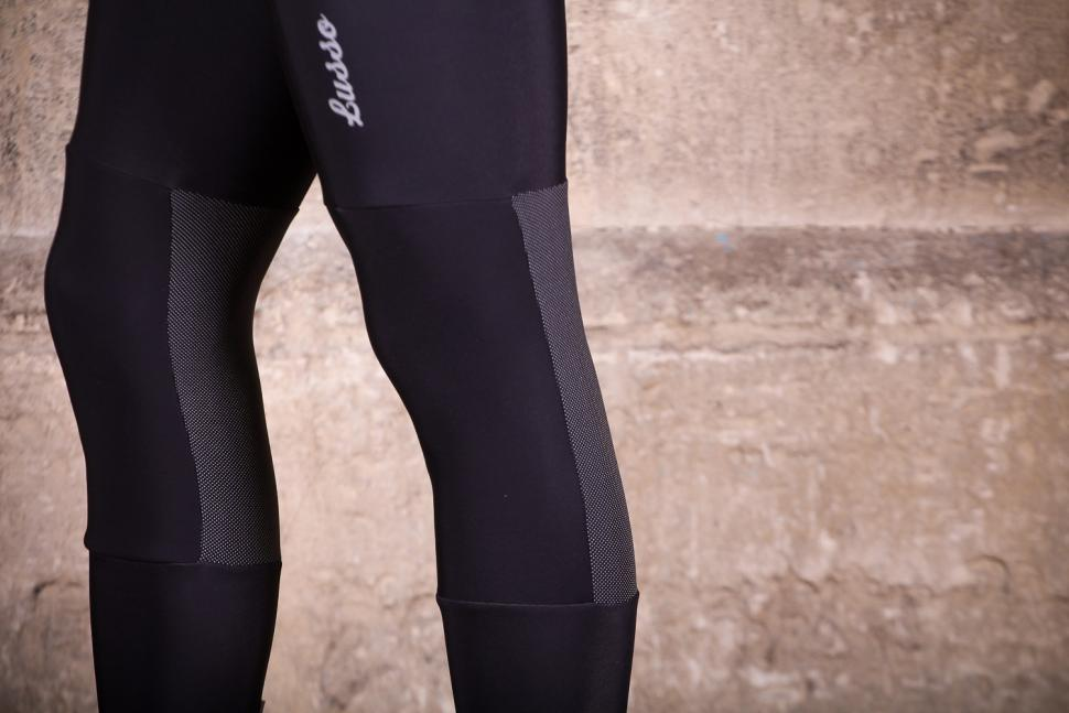 Lusso Thermico Repel Bibtights - knee detail.jpg