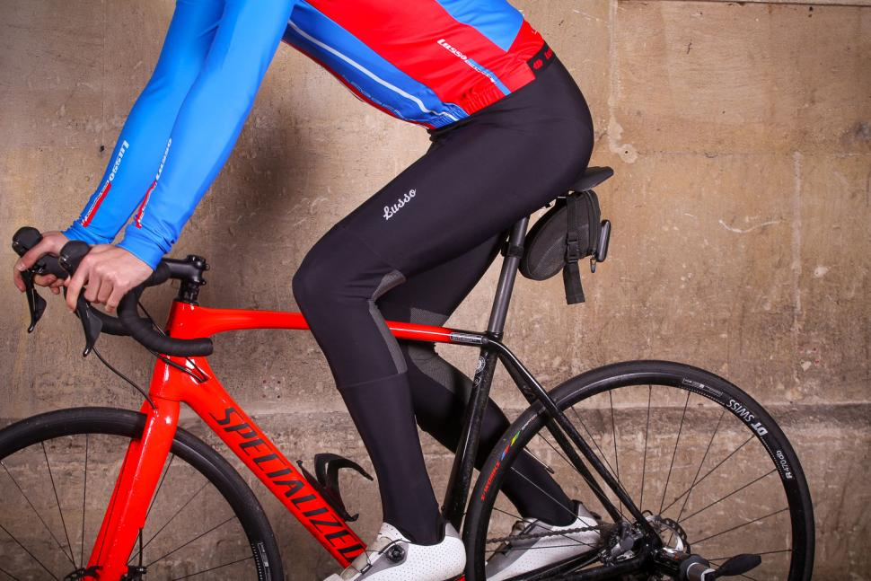 Lusso Thermico Repel Bibtights - riding.jpg