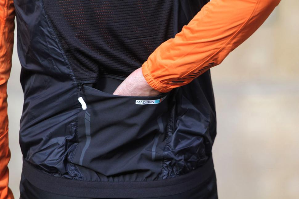 Madison Road Race Mens Windproof Shell Gilet - pocket.jpg