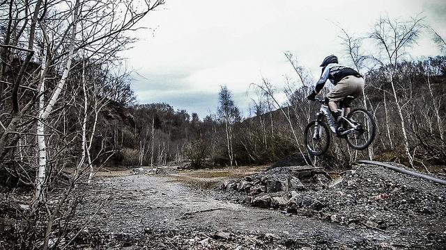 Mountain biking in Forest of Dean (licensed CC BY 2.0 on Flickr by Stewart Black).jpg