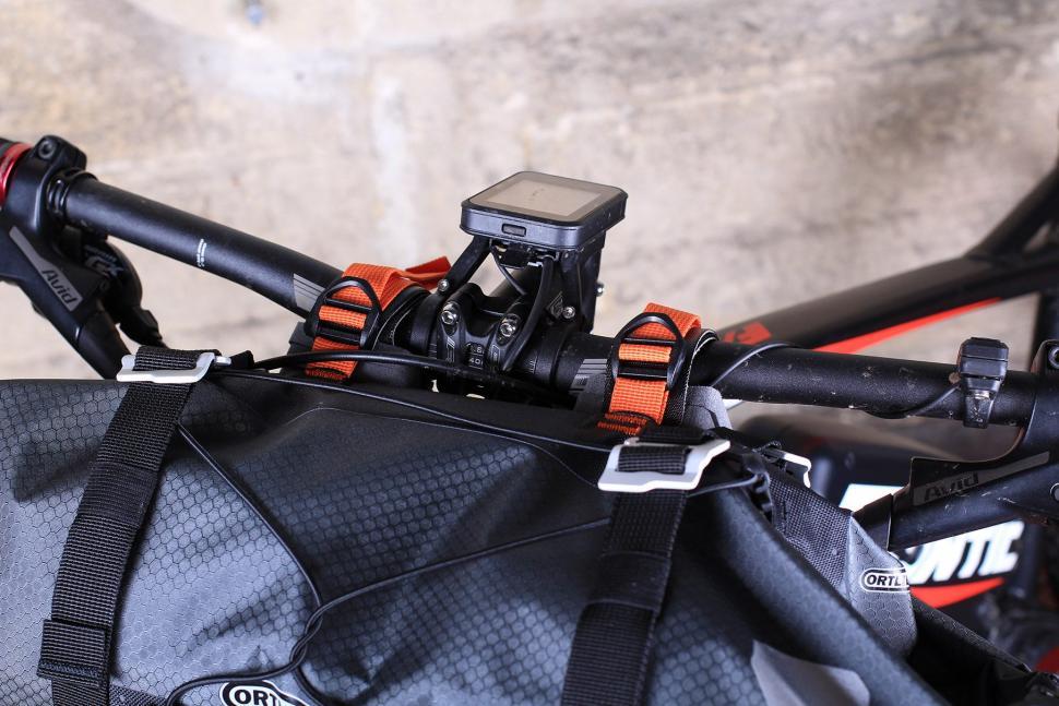 Orlieb Handlebar Pack - on bike bar straps.jpg